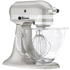 Kitchen Aid Artisan Mixer by Kitchenaid Ksm155gbsr Sugar Pearl Silver Premium Metallic Series 5