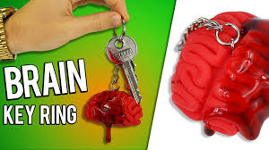 diy brain keyring fun easy halloween gift idea youtube