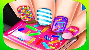 magic beauty candy nail salon best fun kids games youtube