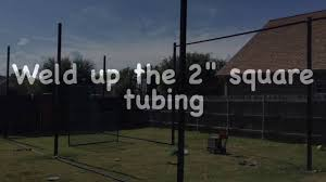 diy batting cage youtube