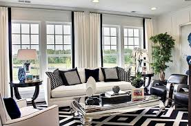 black living room decor inspiration ideas for black and white rug midcityeast