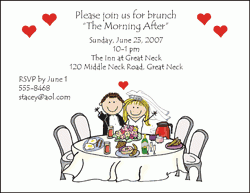 day after wedding brunch invitations wedding lunch invitation paperinvite