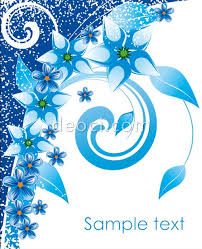 design of cover page for project blue flowers cover the background design template deoci com