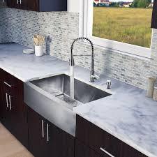 double basin apron front sink vigo vg15203 stainless steel 33 single basin farmhouse apron front