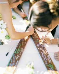 creative wedding guest book ideas unique wedding guest book ideas that aren t actually books