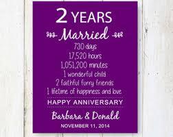 2nd year wedding anniversary 2nd wedding etsy