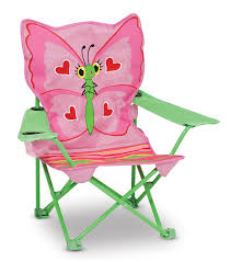 Toddler Folding Beach Chair Amazon Com Melissa U0026 Doug Sunny Patch Bella Butterfly Outdoor