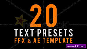 after effects free text templates text animated presets after effects project revostock free