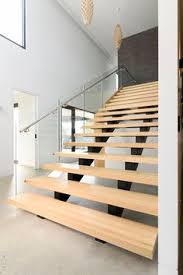 Glass Banisters Oak Staircase With Frameless Glass Balustrade With Stainless Steel