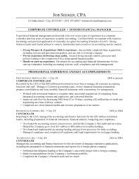 Resume Samples For Accounting by Controller Resume Examples