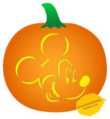 mickey mouse halloween stencil pumpkin stencils