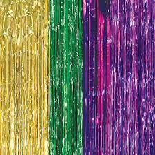 green mardi gras mardi gras foil curtains shindigz