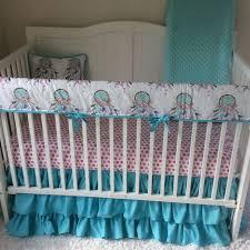 Pink And Aqua Crib Bedding 7 Best Boho Nursery Crib Bedding Ideas With Dreamcatchers