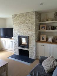 stuv 16 in bespoke stone fireplace wood burning stove installation