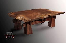 Slab Coffee Table Pyramid Live Edge Coffee Table By Jeffrey Greene