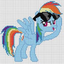 pixel art of rainbow dash template by captainpineapple96 on deviantart