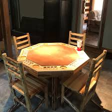 Poker Table Chairs Octagon Poker Table Rush Creek Creations