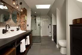 Double Trough Sink Bathroom Dc Metro Double Trough Sink Bathroom Industrial With Skylights