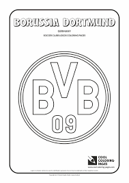 borussia dortmund logo coloring page cool coloring pages
