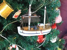 buy wooden fishing r us model fishing boat tree ornament