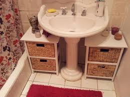 sink storage ideas bathroom appealing diy pedestal sink storage ideas about pedestal sink