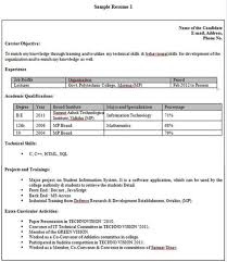 Free Online Resume Format by Extraordinary Educational Qualification In Resume Format 35 For