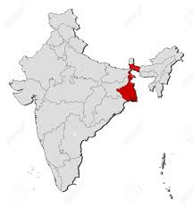 India Political Map Political Map Of India With The Several States Where West Bengal