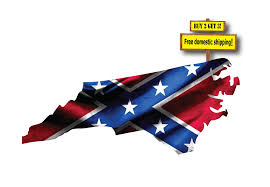 Confederate Flag Decals Truck North Carolina Confederate Dixie Flag Buy 2 Get 3 The Decal Barn