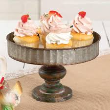 galvanized cake stand corrugated galvanized metal and wooden cake stand pineapple