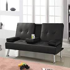 Modern Faux Leather Sofa 3 Seater Manhattan Modern Faux Leather Sofa Bed With Drinks Table