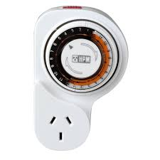 24 hr timer light switch hpm plug in 24hr timer with offset white bunnings warehouse