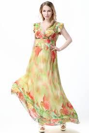 chiffon maxi dress high quality partysu yellow falbala dress chiffon maxi