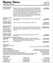 Sample Of Acting Resume by Theatre Technician Cover Letter
