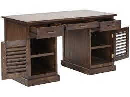 bureau teck massif bureau bali ii 2 portes 3 tiroirs teck massif