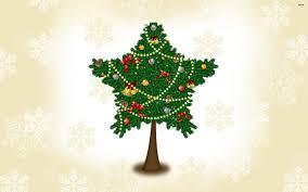 star shaped christmas tree walldevil