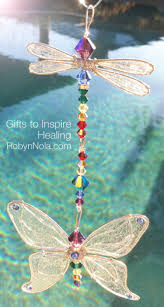 chakra dancer dragonfly and butterfly sun catcher robyn nola gifts