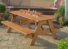feisty square picnic table tags outdoor bench table white bench