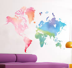 World Map Wall Sticker by A Splendid Design Of A World Map With A Touch Of Originality This