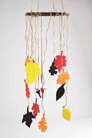 this colorful leaf wind chime will this