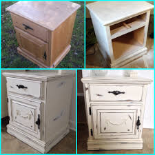 Wooden Furniture Paint My Diy Shabby Chic Nightstand Furniture Makeover Painted Wood