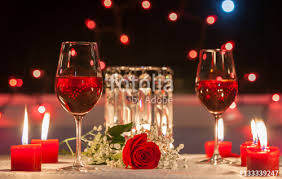 Candle Light Dinner Candle Light Dinner Romantic Date Setting