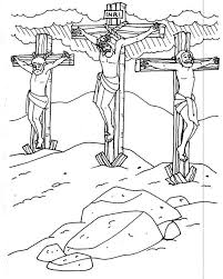 jesus on the cross coloring page free download