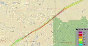 Muscle Shoals Alabama Map Ef5 Tornado Track Franklin Al To Franklin Tn