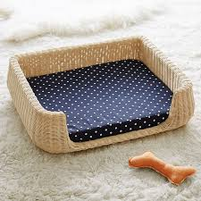 Medium Sized Dog Beds Northfield Canvas Wicker Pet Beds Dog Milk