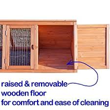 4ft Rabbit Hutch With Run 4ft Rabbit Hutch Run Guinea Hutches Poultry Playpen Home Pet