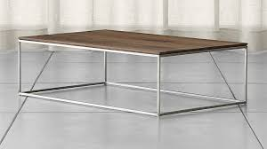 frame medium coffee table crate and barrel