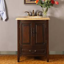 27 inch single sink vanity with counter led lighting