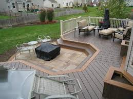 Floating Fire Pit by Columbus Deck With Floating Bench U2013 Columbus Decks Porches And