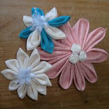 how to create kanzashi flower hair accessories sussex