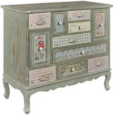pd global shabby chic patchwork chest of drawer multi drawer